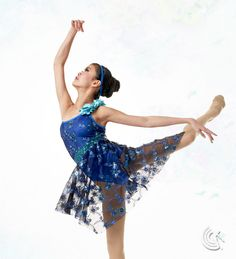 Curtain Call Costumes® - Play The Music Contemporary dance costume with embroidered sequin mesh overlay.
