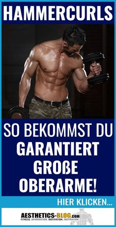 ‼Großer #Oberarm? Insanity Workout, Best Cardio Workout, Biceps Workout, Leg Day Workouts, At Home Workouts, Aesthetics Bodybuilding, The Obesity Code, Lower Stomach, Gewichtsverlust Motivation