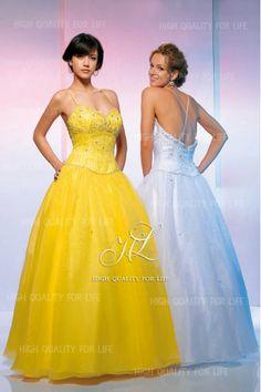 Strapes Ball Gown White/Lemon Sweatheart Prom Dress pmp97  http://www.mydresspro.co.uk/182-prom-dress?p=2