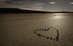 HEART IN THE SAND  -Skip Reeves took this near Hawes Station on Highway 50 near Lake Lahontan in Nevada.