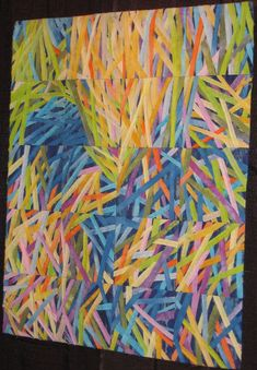 Made by Kristine Calney of Washington; entered in the judged show (category: Art-Abstract, Small) at the 2007 Houston International Quilt Festival.