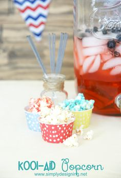 Kool-Aid Candied Popcorn   A fun, tasty and colorful twist on caramel popcorn!  This is super simple to make too!  Must pin for later!   #popcorn #recipe #koolaid #kooloff #shop