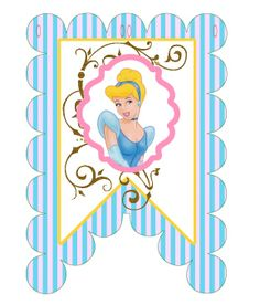Cinderella Party: Banner/Bunting Cinderella Birthday, Disney Princess Cinderella, Disney Printables, Party Printables, Party Themes, Party Ideas, Disney Fun, 7th Birthday, Banner