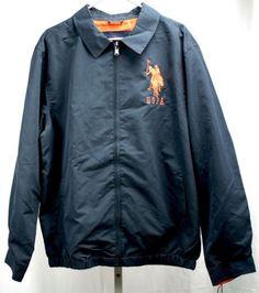 U-S-Polo-Assn-Big-Pony-Navy-Blue-Long-Sleeve-Zip-Front-Mens-Jacket-XL-NWT