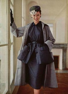 Christian Dior outfit, 1950.