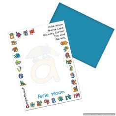 Personal Touch Gifts - Bang On The Door Animal Alphabet Boys Paper, £13.99 (http://personaltouchgifts.co.uk/bang-on-the-door-animal-alphabet-boys-paper/)