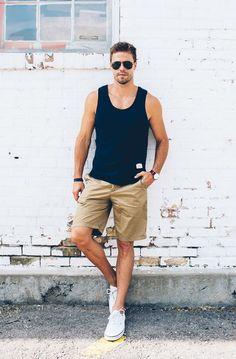 5ac36d4964 Look_masculino_descontos Casual Shorts Outfit, Summer Shorts Outfits, Short  Outfits, Winter Outfits, Men