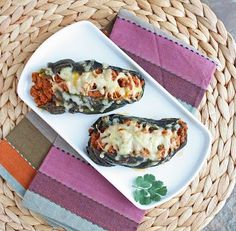 Cheesy Chorizo Stuffed Roasted Poblano Peppers - the ultimate in spicy comfort food! (low carb and gluten free)
