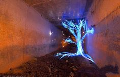 """Welsh artist Michael Bosanko uses coloured torches and a digital camera with the shutter left open on a long exposure to create these """"light graffiti"""" photos. Light Painting Photography, Night Photography, Art Photography, Contrast Photography, Photography Lighting, Artistic Photography, Shadow Video, Exposure Lights, Long Exposure"""