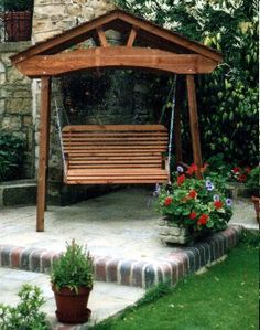 Roofed Arched Pergola Swing
