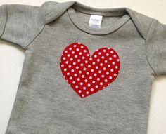 Baby TShirt // Heart TShirt // Size 1824 Months TShirt by veryKIKI, $11.00
