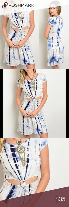 """Dress Bundle to save PRICE FIRM UNLESS BUNDLED  Twisted Knot Tie Dye Dress Fabric Content: 95% RAYON 5% SPANDEX Made in USA Size recommendations: 
