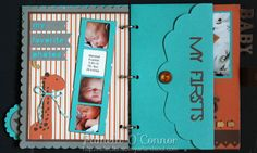 Mini book made with Babycakes papers and new artbooking cartridge by Pamela O'Connor