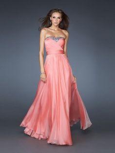 A-Linie Herzform Bodenlänge Rosa Abendkleid Chiffon