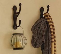 overscaled hook cast iron traditional hooks and hangers pottery barn