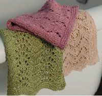 Lacy linen washcloths