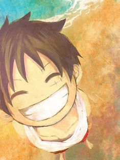 smiling luffy