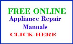 Washing Machine Repair Manual FREE online - DO-IT-YOURSELF