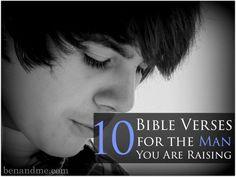 10 Bible Verses for the Man You Are Raising #heartparenting #parenting (scheduled via http://www.tailwindapp.com?utm_source=pinterest&utm_medium=twpin&utm_content=post61952454&utm_campaign=scheduler_attribution)