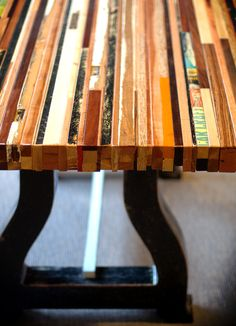 Recycled timber tabletop | Milwaukee Modern