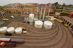 model railroad oil refinery