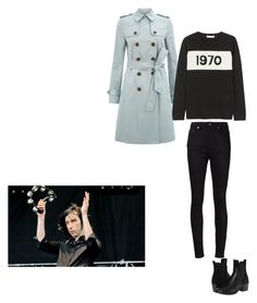 """Untitled #430"" by goutte-de-pluie ❤ liked on Polyvore featuring Yves Saint Laurent, Hobbs, Bella Freud and COSTUME NATIONAL"