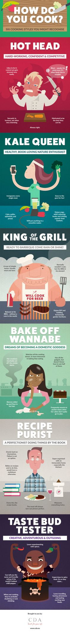 How Do You Cook? 6 Cooking Styles You Might Recognize #Infographic #Cooking