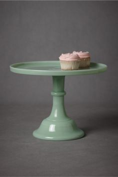 { Jadeite Cake Stand, from BHLDN [$98] }