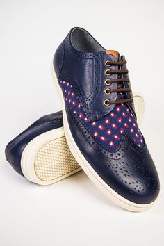 Fred Perry Paisley Brogue Patton Leather Carbon Blue Sneaker bought these when i first moved here
