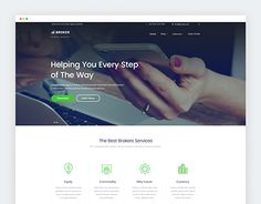 Check Out New Work On My Behance Portfolio Financial Services Website Templates Free