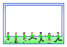 Playtime A4 page borders (SB7780) - SparkleBox