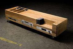 A marvelous audio cabinet from designer Kevin Krumnikl.