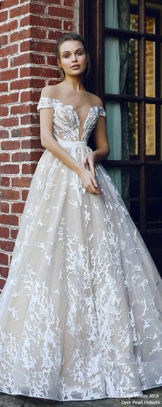ETEL off the shoulder wedding dress ❤️ http://www.deerpearlflowers.com/ange-etoiles-2018-wedding-dresses/ #bridaldress #dress #weddingdress