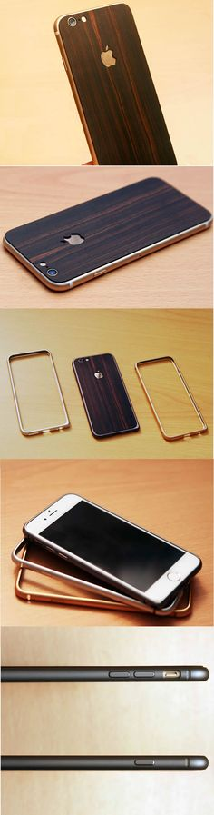 Handmade Wooden Protective Skin Phone Back Shell for iPhone 6/plus(Black Sandalwood)