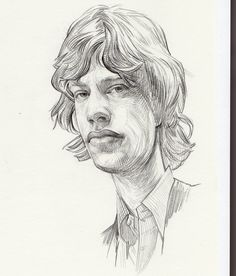 Keith Richards of the Rolling Stones pencil drawing by Dave Malan