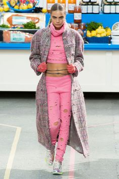 The Chanel Fall 2014 Fashion Show Had a Bold Grocery Store Setting #tiedie #springfashion trendhunter.com