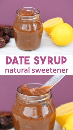 Date Syrup Natural Sweetener - recipe for date syrup that is cheap, healthy and full of good stuff. Date syrup uses are any recipes that call for no refined sugar and cakes. Benefits of date syrup are it contains fibre, inexpensive to make, high in a Vegan Desserts, Raw Food Recipes, Vegetarian Recipes, Cooking Recipes, Healthy Recipes, Cheap Recipes, Alkaline Recipes, Recipes With Dates Healthy, Date Recipes Vegan