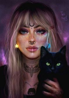 41 New Ideas For Digital Art Girl Sketch Digital Art Girl, Digital Portrait, Arte Aries, Art Zodiaque, Zodiac Art, Zodiac Signs, Witch Art, Moon Art, Pretty Art