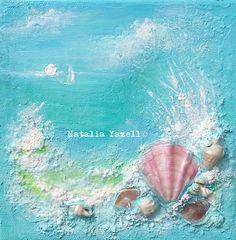 Ocean Dream Original Mixed Media Painting by TerraArtGallery