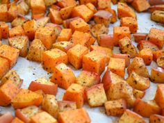nature's candy - Budget Bytes sweet potatoes and gala apples, baked.  Looks easy and delicious