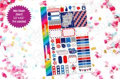 4th of July weekly sticker kit at 3LBstudio.etsy.com