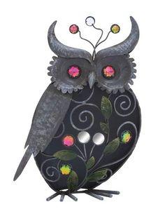 Metal Owl Sparkle Figurine