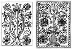 Magyargyerőmonostori csempe (v. Kolozs m.) Hungarian Embroidery, Folk Embroidery, Embroidery Dress, Embroidery Patterns, Hobbit, Hungary, Color Patterns, Needlepoint, Folk Art