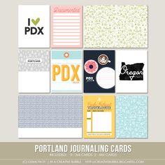 This set of ten digital journaling cards is perfect for pocket page protectors, scrapbooking and mini-books. Included in this set are individual...