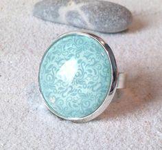 """Ringe - Gläserner Ring """"Minze"""" - ein Designerstück von Smilland bei DaWanda"""