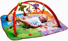 Tiny Love Gymini Move and Play Activity Gym, Animals (735259004089) 5 in 1 multi positions The only gym that adjusts to baby's developmental stages 7 toys, electronic light and music, 7 melodies, extra large mat