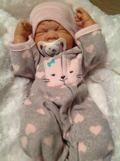 TOO CUTE!!REBORN BERENGUER PREEMIE PACIFIER DOLL W EXTRAS WEIGHTED PAINTED #BERENGUER