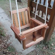 Child Swing Company Mission Cedar Baby Outdoor Swing