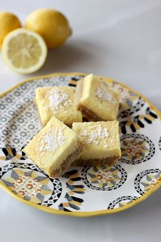 Meyer Lemon Bars - Gluten-free, Grain-free, Dairy-free + Refined Sugar-free by Tasty Yummies