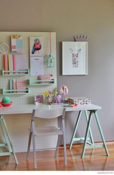 A Movable Girl's Study Desk - Petit & Small
